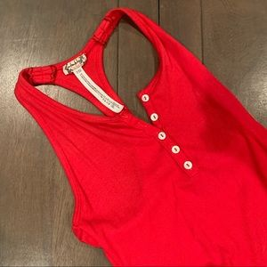 Free People Intimately racer back bodysuit red s
